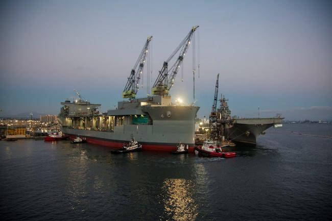 """USNS Hershel """"Woody"""" Williams_float out"""