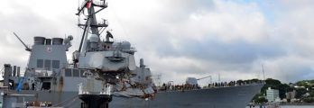 USS Fitzgerald damaged
