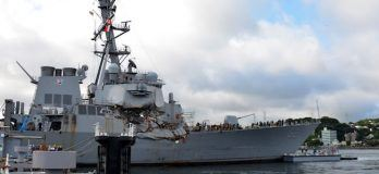 USS Fitzgerald Begins Trip To Gulf Coast For Repairs