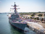 US Navy Commissions USS Rafael Peralta Destroyer Powered By GE Marine Gas Turbines