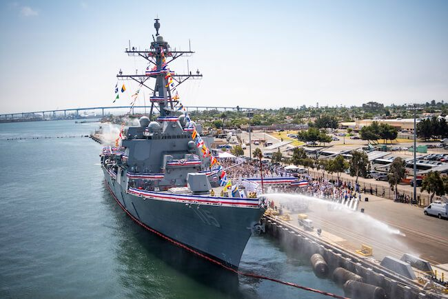 USS Peralta during commissioning San Diego CA 7-29-17-U.S. Navy photo by Mass Communication Specialist 2nd Class Zackary Alan Landers (1)