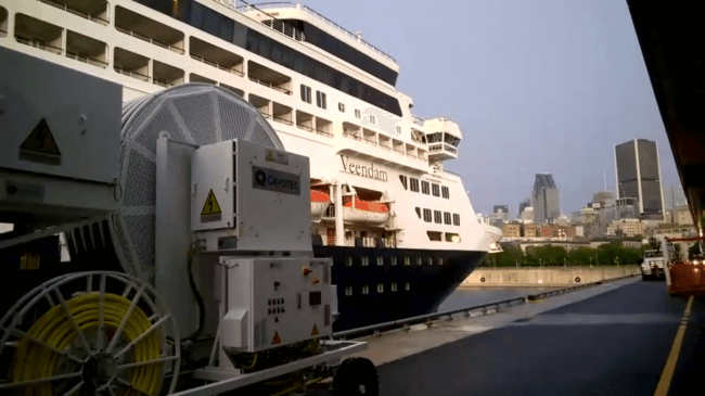 port of montreal cruise charging