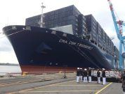 Photos: PANYNJ Celebrates Arrival Of Largest Cargo Vessel To Port