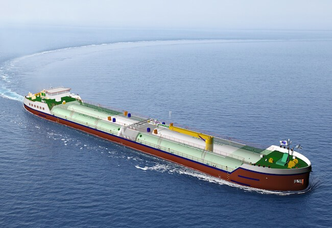 LNG bunkering barge