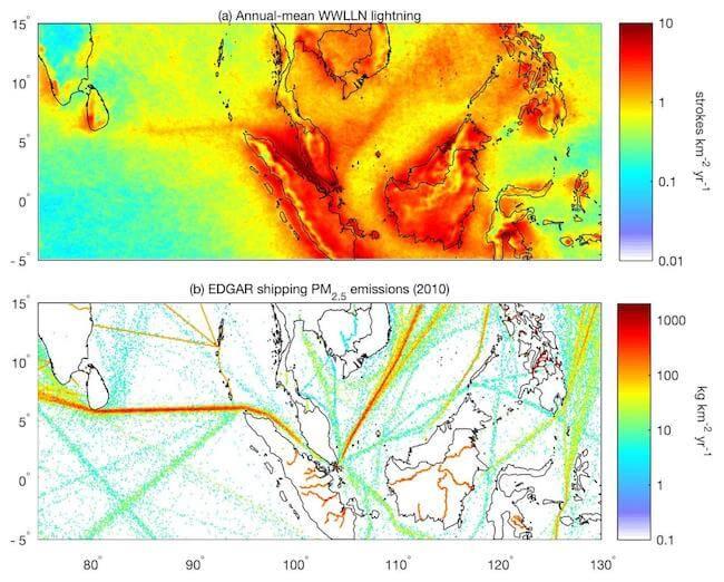 lightning and emissions