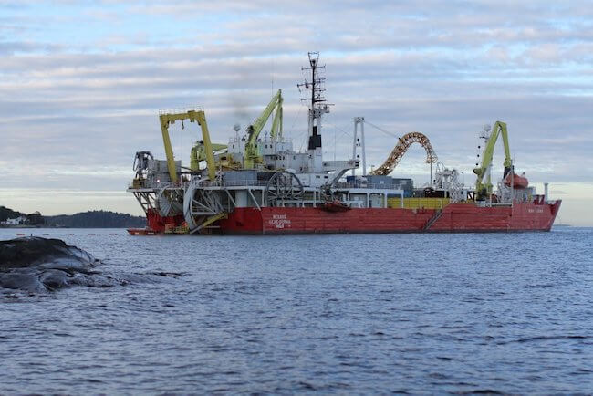 Nexans submarine underwater cable