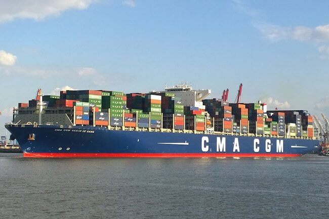 cma cgm vasco da gama grounded