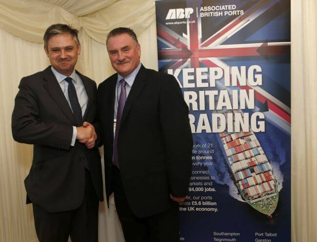 John Woodcock MP and ABP Short Sea Ports Director Andrew Harston at the Barrow 150 reception in parliament - website