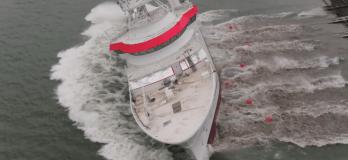 damen fishing research vessel launch