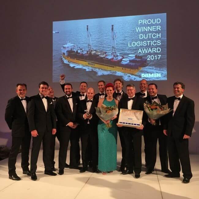 damen winner of dutch logistics award