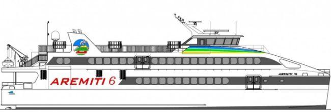 Aremiti 6 GA Profile Drawing
