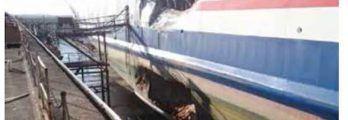 damage to roro ferry