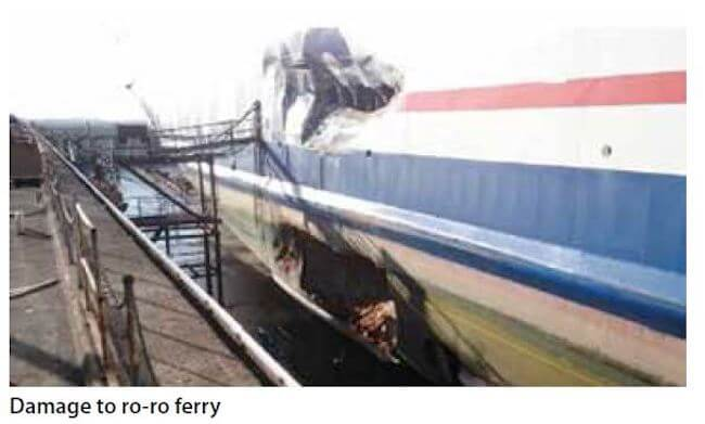 damage to roro ferry