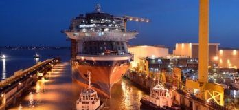 """Photos: The Eagerly Anticipated """"Celebrity Edge"""" Floats Out of Dry Dock"""