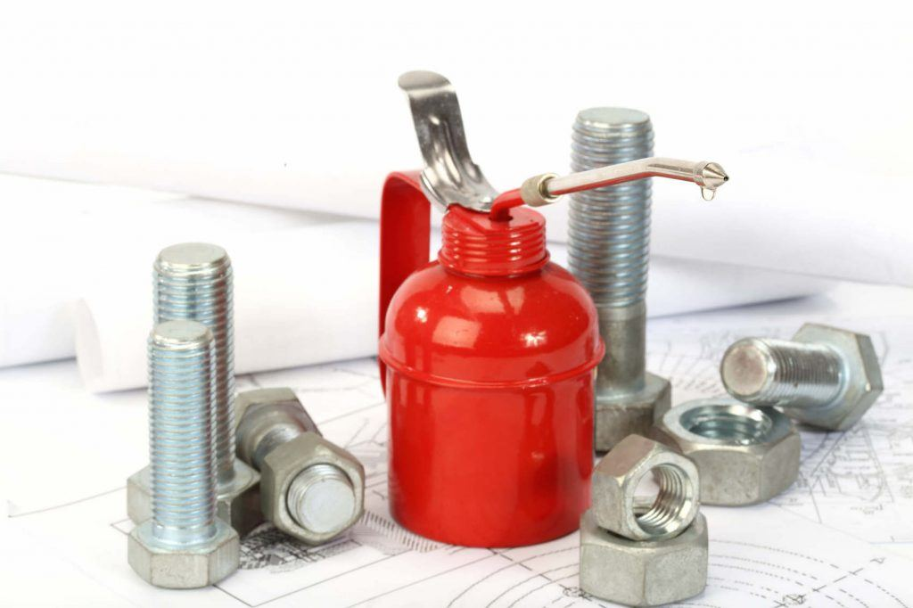 Lubricating nuts bolts