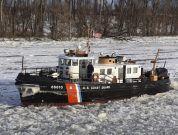 Watch: Frigid Temperatures Keep Coast Guard Busy Breaking Ice