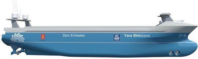 autonomous ship yara birkeland_kongsberg
