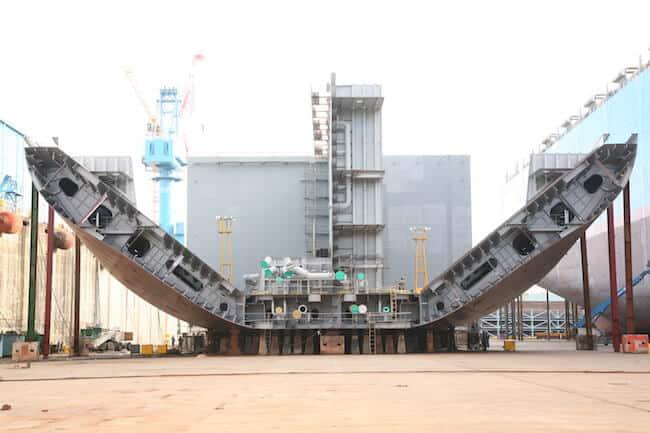 keel laying tankers_hanjin