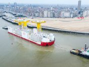 Transport Of Giant Foundations To Kriegers Flak Offshore Wind Farm
