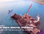 Watch: SMIT Salvage Removing Wreck Of Container Ship 'TS Taipei'