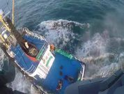 Watch: Capsized Vessel Britannica Hav After Colliding with Fishing Vessel