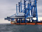 Arrival Of Philaport's Two New Super Post-panamax Cranes On The Final Leg Of Their Journey