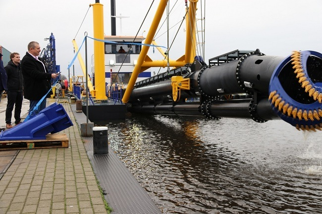 The Ishtar was named by the owner at the Damen Dredging yard_lowres
