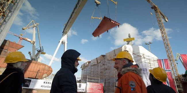 Celebrates Keel Laying Of First Polar New Build, The National Geographic Endurance