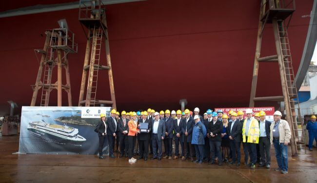 Keel-laying-ceremony-of-the-Color-Hybrid