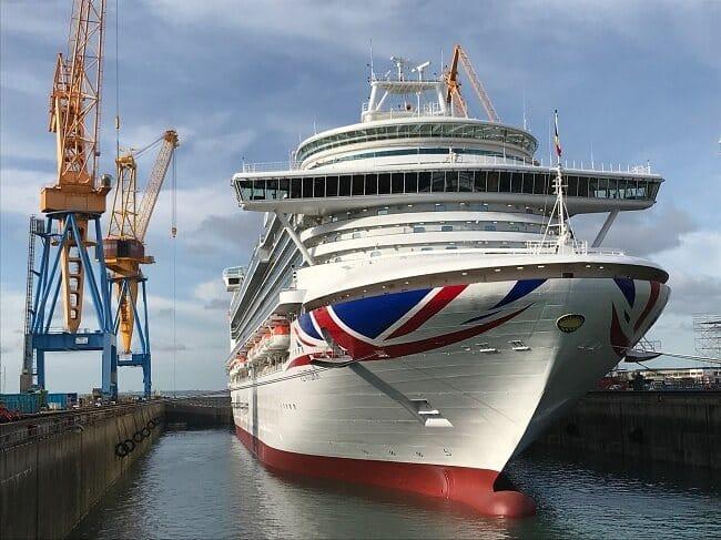 P&O Cruises Ventura Completes Two-Week Docking at Damen Shiprepair Brest