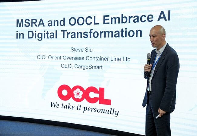 Steve Siu at MSRA and OOCL conference