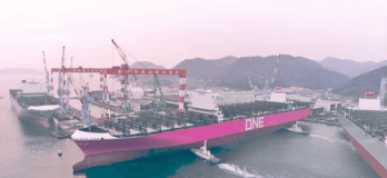 Watch: ONE Launches Its First Container Ship 'ONE MINATO'