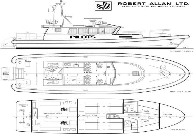 vessel designs developed by Robert Allan