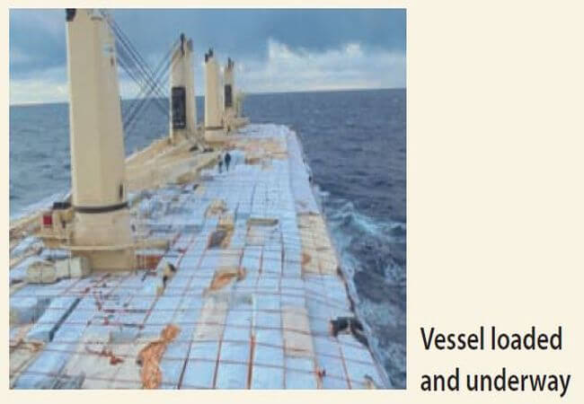 vessel loaded