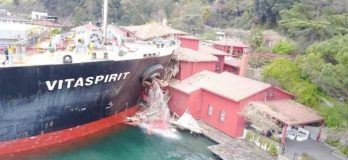 Watch: Bulk Carrier Crashes Into Historic Mansion In Istanbul's Bosphorus