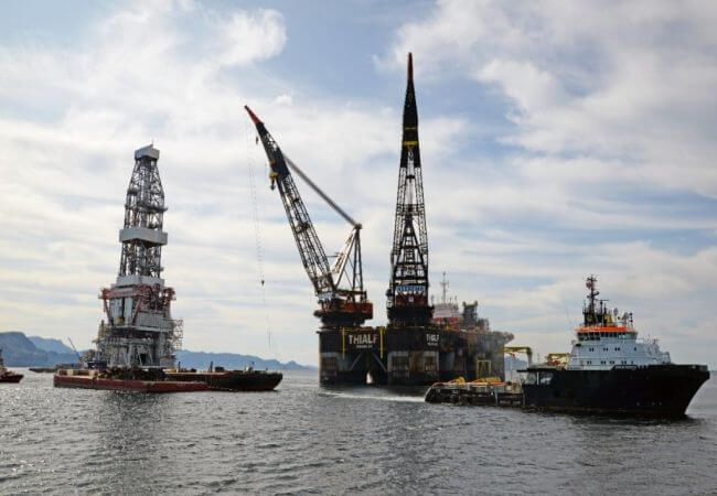 Assembly operation of the Johan Sverdrup drilling platform