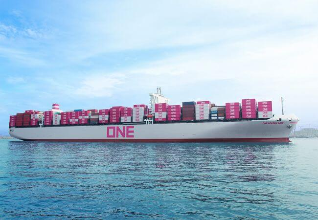 Ocean Network Express (ONE) vessel