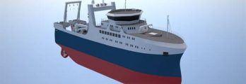 Ocean factory trawler designed by KNUD E. HANSEN