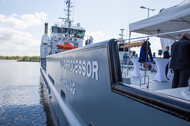 Damen Shows Its First Completed UV 4312 Fish Farm Support Vessel