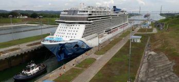 Watch: Panama Canal Welcomes Its Largest Passenger Ship 'Norwegian Bliss'