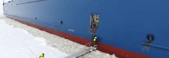 pilot boarding moving ship