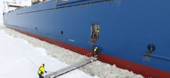 Watch: Pilot Boarding Moving Ship In Extreme Weather Condition