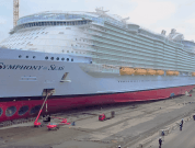 Watch: World's Largest Cruise Ship 'Symphony Of The Seas' In Dry Dock
