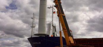 Major Step Eco Flettner Project – Rotor Is In Place On Vessel Fehn Pollux
