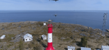 Watch: Helicopter Removing Tankar's Lighthouse Old Radar