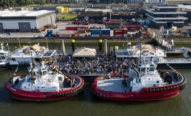 Kotug Smit Towage Performs Naming Ceremony For Damen Tugs Rotterdam & Beagle