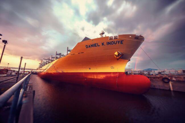 daniel k inouye matson_us largest container ship