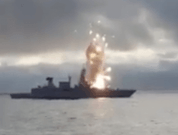 Watch: Missile Explosion On German Frigate During Training Exercise