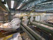 AIDA's First LNG Cruise Ship To Leave MEYER WERFT Covered Building Dock