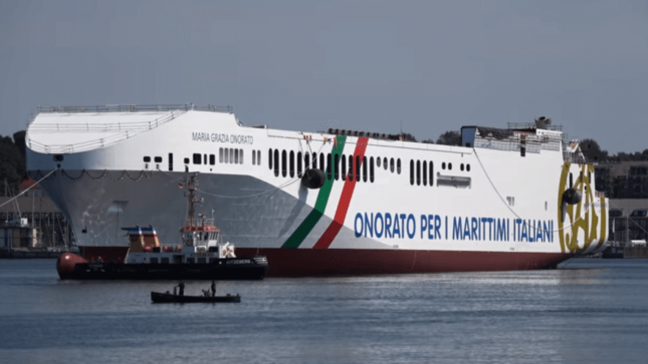 Watch: Launch Of RoRo Ship 'Maria Gracia Onorato' – Largest